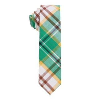Skinny Tie Madness Men's 'Evette the Escort' Madras Plaid Skinny Tie