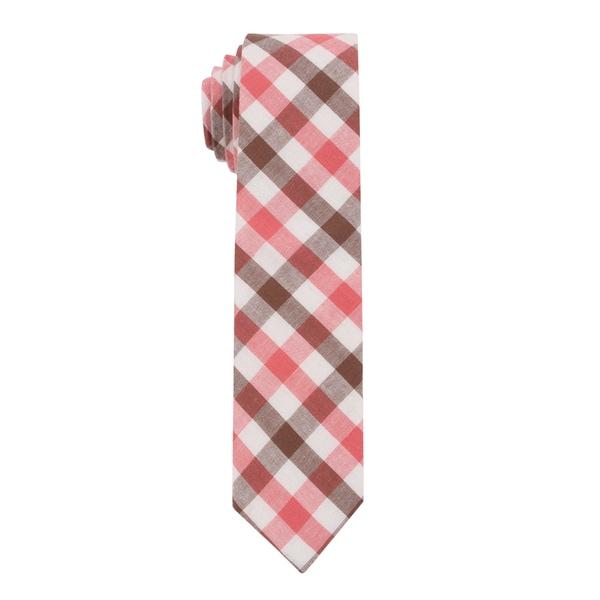 Skinny Tie Madness Men's 'Cheat Sheet' Plaid Skinny Tie