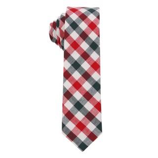 Skinny Tie Madness Men's The 'Sponge Worthy' Plaid Skinny Tie
