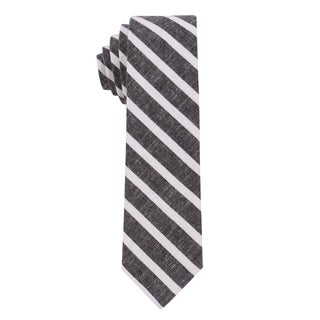 Skinny Tie Madness Men's The 'Nobel Peas Prize' Chambray Striped Skinny Tie