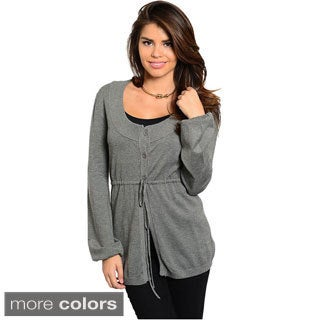 Feellib Women's Drawstring-waist Sweater