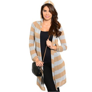 Feellib Women's Knee-length Open Cardigan