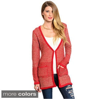 Feellib Women's Front-hook Heather Knit Cardigan