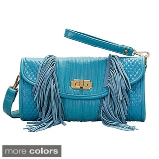 Mellow World 'Sicily' Fringe Trim Crossbody Bag