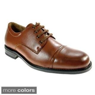 Delli Aldo Men's Cap-toe Lace Up Oxfords