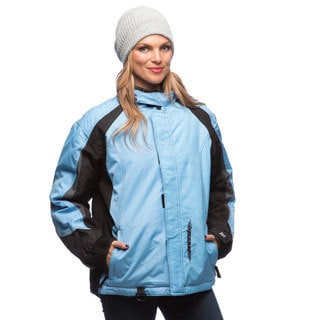 Mossi Women's Light Blue/ Black Serenity Winter Jacket