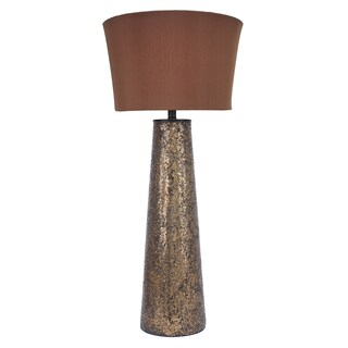 37.5-Inch Amber Mosaic Lamp