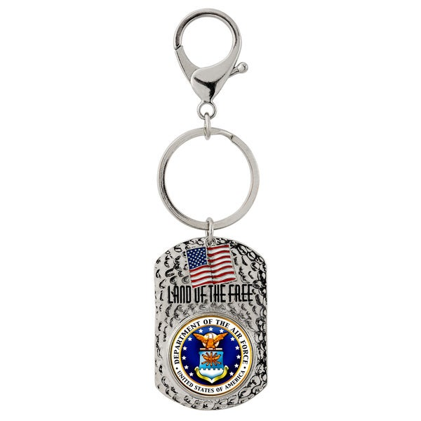 American Coin Treasures Land of the Free Air Force Quarter Key Chain
