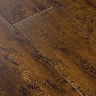 Lamton Laminate - 12mm Exotic Wide Plank Collection - L 48 IN x W 42 IN x H 30 IN (15.1 sq ft/box)