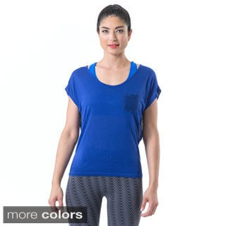 Electric Yoga Women's Solid Mesh-back T-shirt
