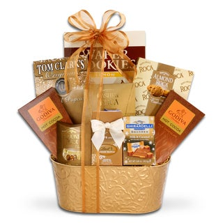 Alder Creek Touch of Gold Gourmet Food Gift Basket