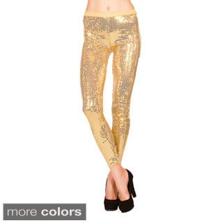Just One Women's Sequin-embellished Leggings