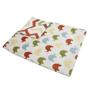 Thro Elmer Elephant Reversible Baby Throw Blanket