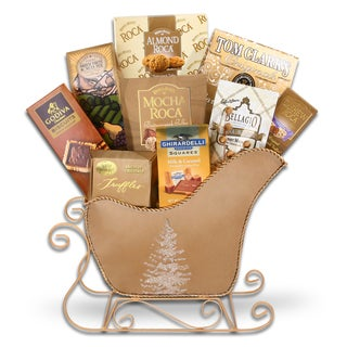 Golden Sleigh Ride Gourmet Gift Basket