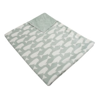 Thro Neutral Wally Whale Baby Throw Blanket