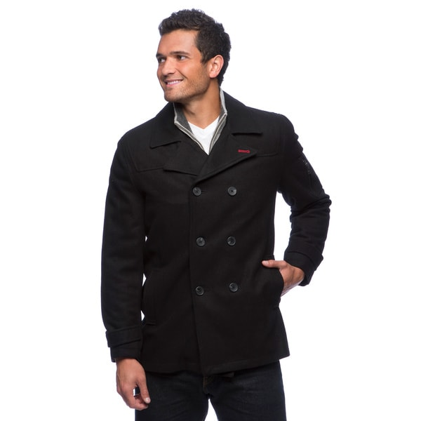 Izod Men's Wool Pea Coat