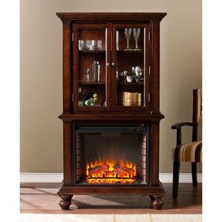 Upton Home Blexham Espresso Fireplace Cabinet