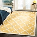 Safavieh Handmade Moroccan Cambridge Gold/ Ivory Wool Rug (8' x 10')