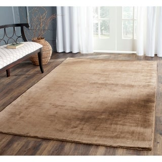 Safavieh Hand-knotted Mirage Black Viscose Rug (8' x 10')