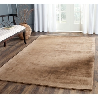 Safavieh Hand-knotted Mirage Brown Viscose Rug (9' x 12')