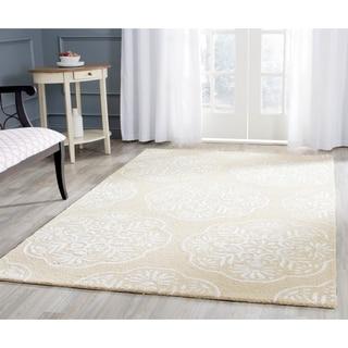 Safavieh Handmade Bella Beige/ White Wool Rug (6' x 9')