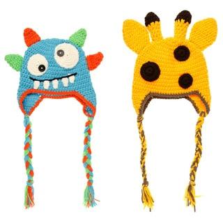 Boys' Baby Knit Animal Beanies (Set of 2)