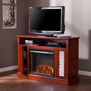 Upton Home Annesley Classic Mahogany Media Fireplace