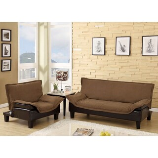 Furniture of America Empress 2-Piece Convertible Two-Tone Sofa Set