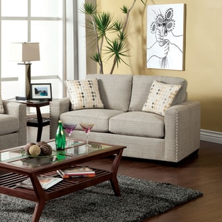 Furniture of America Welzer Chic Upholstered Loveseat