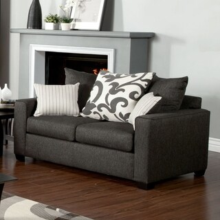Furniture of America Aizo Modern Linen Loveseat