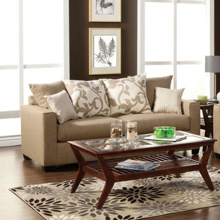 Furniture of America Aizo Modern Linen Sofa