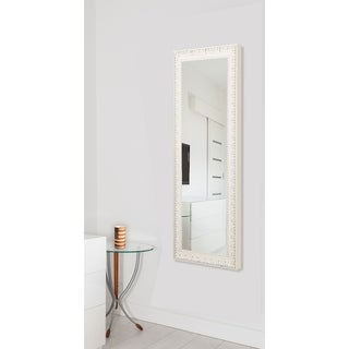 American Made Rayne Charming White 26 x 64-inch Full Body Mirror