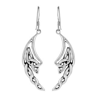 Celtic Knotted Angel Wings .925 Silver Dangle Earrings (Thailand)