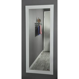 American Made Rayne White Satin 26 x 64-inch Full Body Mirror