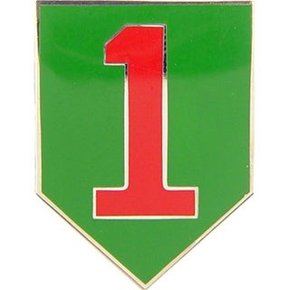 US Army 001st Infantry Division Enamel Pin