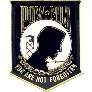 POW MIA You Are Not Forgotten Enamel Pin