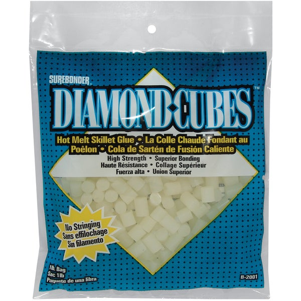 Diamond Cubes Hot Melt Skillet Glue-1lb