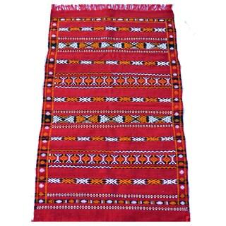 Hand-Woven Moroccan Kilim Rug (2.8' x 4.6')