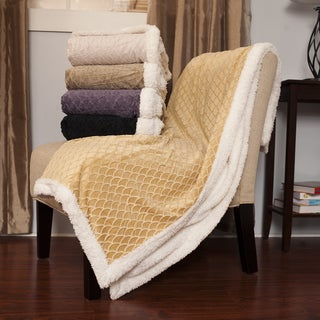 Luxuriously Soft Mermaid Print Sherpa Lined Throw Blanket