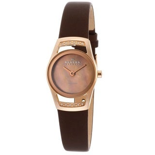 Skagen Women's 'Diamond' Rose Gold Ion-plated Steel Diamond Watch