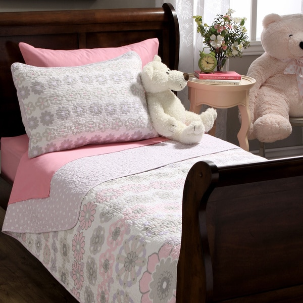 Lola Floral Cotton 3-piece Quilt Set