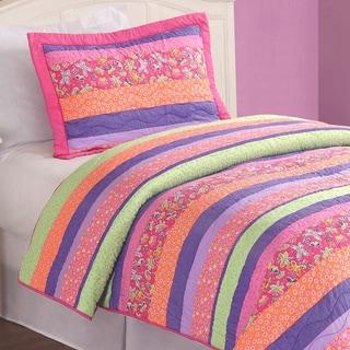 Stripes and Flowers 2-piece Mini Quilt Set
