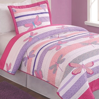 Pretty Dragonfly 2-piece Mini Quilt Set
