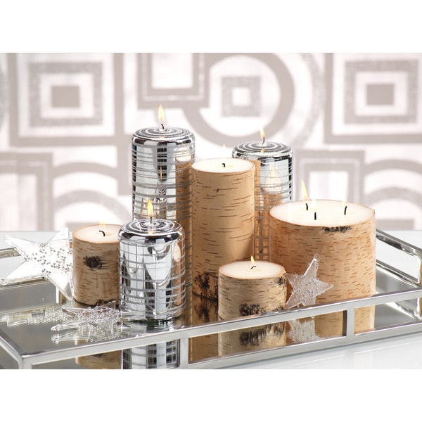 Birchwood Pillar Candle