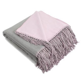 Brushed Bamboo Viscose Reversible Bi-color Throw