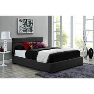 DHP Modena Black Upholstered Bed