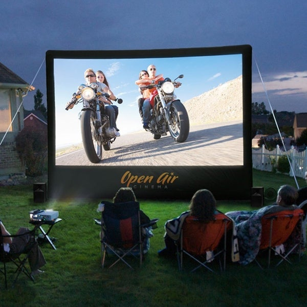 Open Air Cinema 16 x 9 ft. 1080 HD Inflatable Movie Screen System
