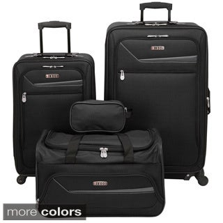 IZOD Metro 3.0 4-piece Expandable Spinner Luggage Set