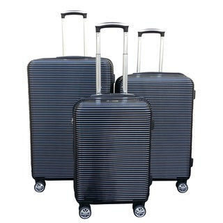 Kemyer Elite Black 3-piece Polycarbonate Hardside Spinner Luggage Set