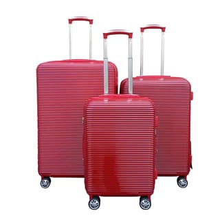 Kemyer Elite Red 3-piece Polycarbonate Hardside Spinner Luggage Set